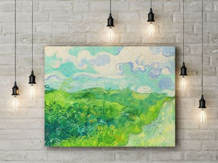 Vincent van Gogh: Green Wheat Field, Auvers. Fine Art Canvas.